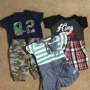 3 Boys Outfits Size 0-3 M